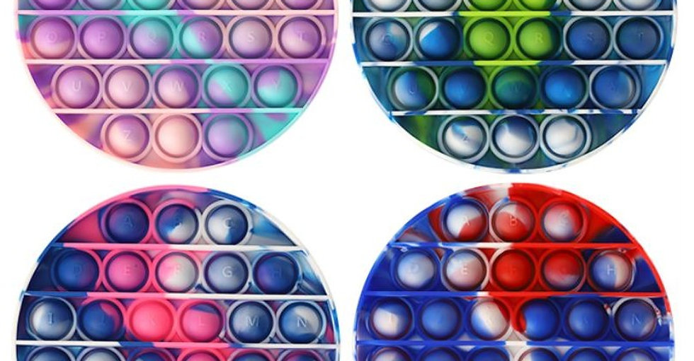 Bubble POPIT Fidget Tie Dye Round Assorted
