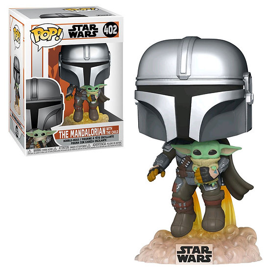 POP! Vinyl Star Wars: The Mandalorian with the Child Jetpack Flying 402