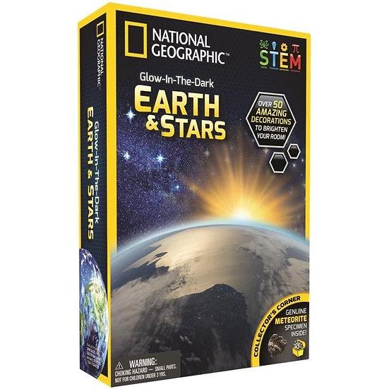 Glow in Dark 3D Earth & Stars