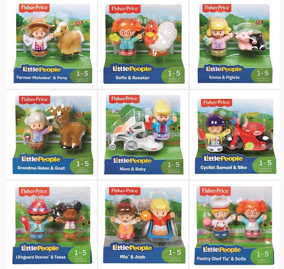 Fisher Price Little People Figure 2 Pack Assorted