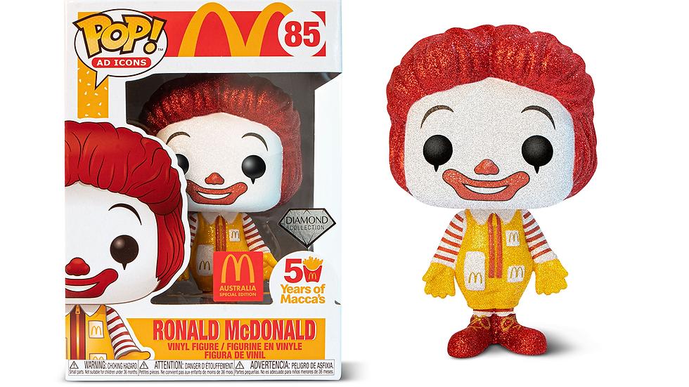 Pop! Vinyl Ronald McDonald Diamond Glitter #85 - Australian  Special Edition