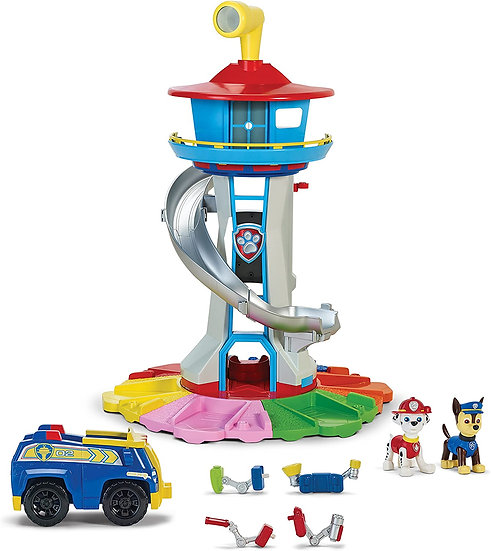 Paw Patrol MySize Lookout Tower w/ Vehicle, Rotating Periscope, Lights, Sounds
