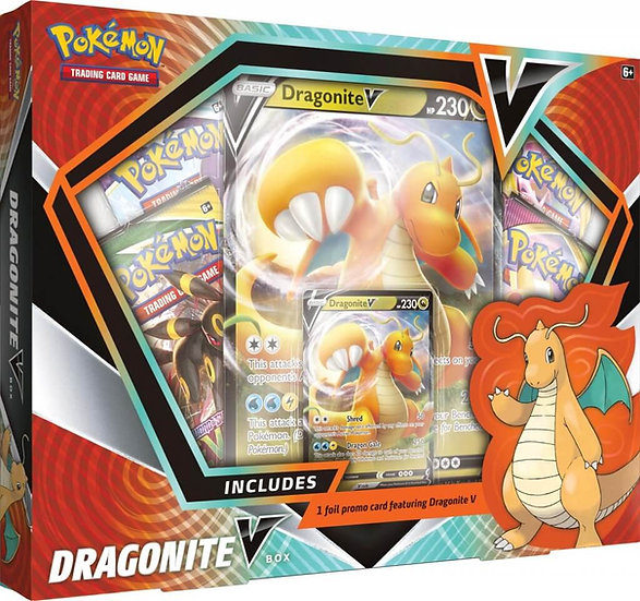 POKÉMON TCG Dragonite & Hoopa V Box