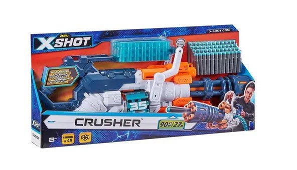 Zuru XSHOT Excel Crusher with 48  darts and belt