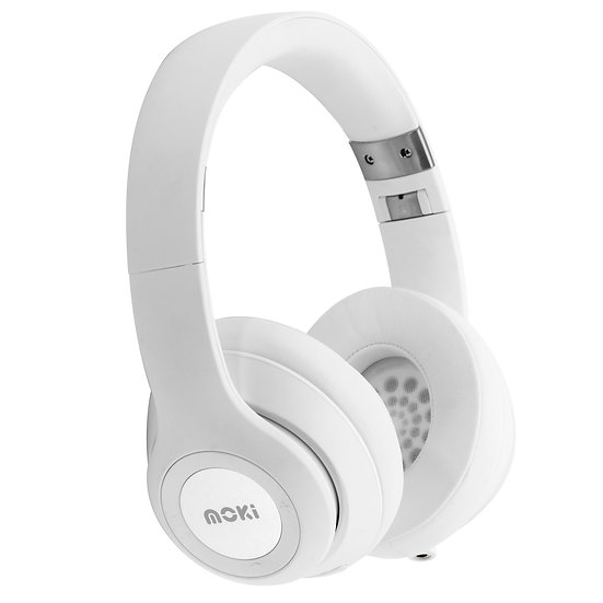 Moki Katana Bluetooth Headphones - White