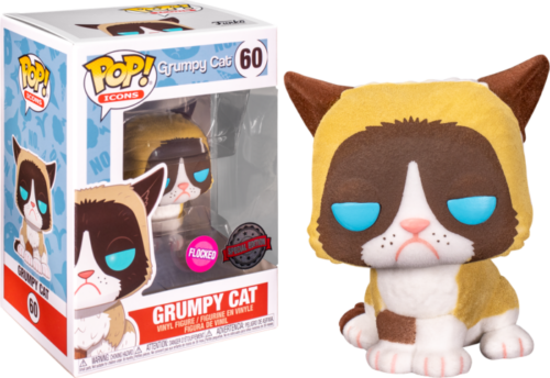 POP! Vinyl Icons - Grumpy Cat Flocked US Exclusive 60