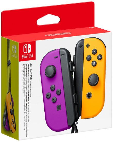 **Nintendo Switch Joy-Con Pair (Neon Purple/Neon Orange)