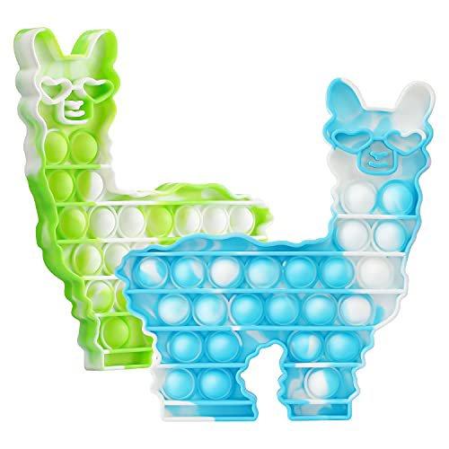 Bubble POPIT Fidget Tie Dye Llama Sensory Toy