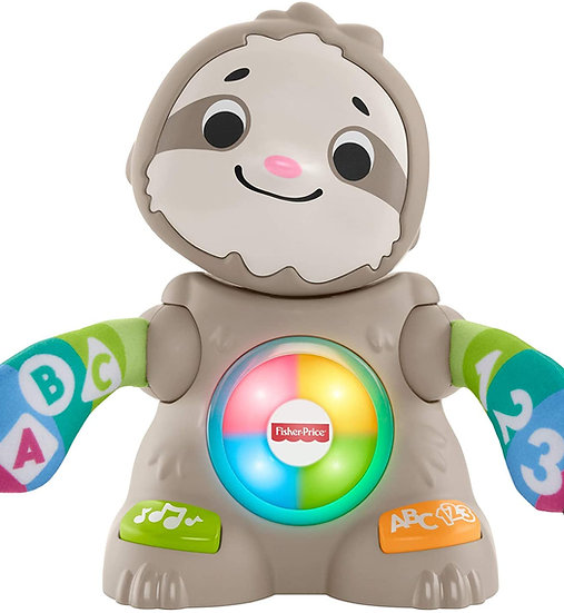 Fisher-Price Linkimals Smooth Moves Sloth, Baby Toy With Music and Lights