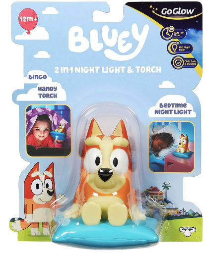 Bluey GoGlow 2 in 1 Bedtime Night Light & Torch Buddy Bingo Kids/Toddler 12m+
