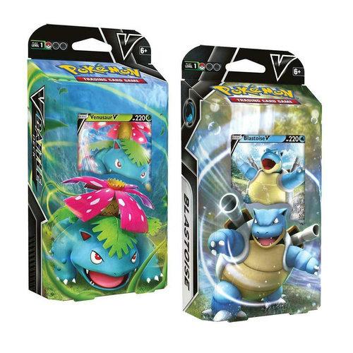 Pokemon TCG: Venusaur V & Blastoise V Battle Deck Brand NEW