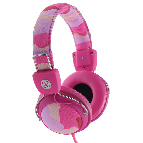 Moki Camo Headphones w/In-Line Mic- Pink