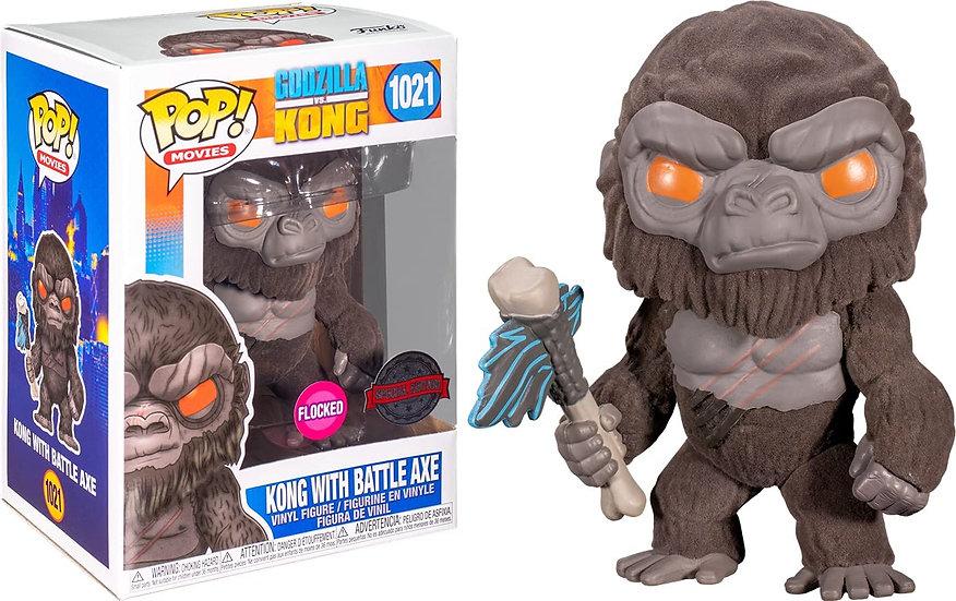 POP! Vinyl Godzilla vs Kong - Kong with Battle Axe Flocked US Exclusive