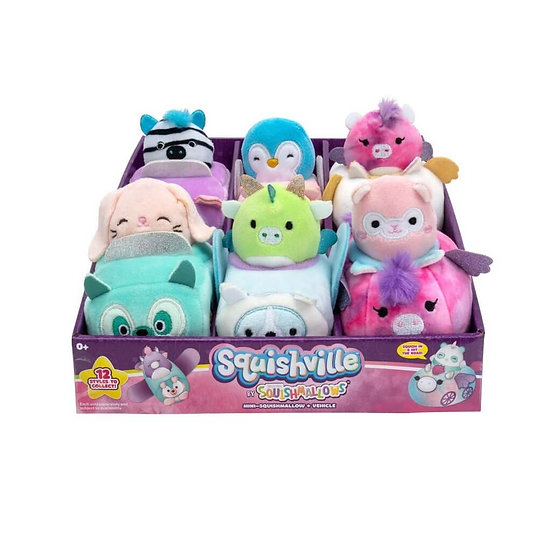 Squishville Mini Plush Squishmallow in Vehicle Assorted