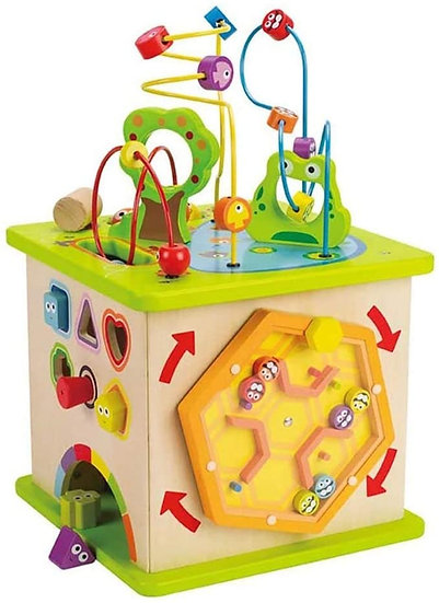 Hape Country Critters Wooden Children's Toddler Play Cube Activity Block Toy