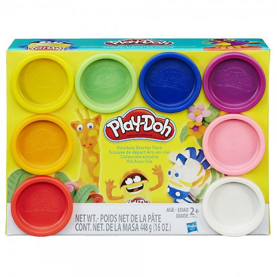 Play Doh Colours Can 8 Pack Assorted
