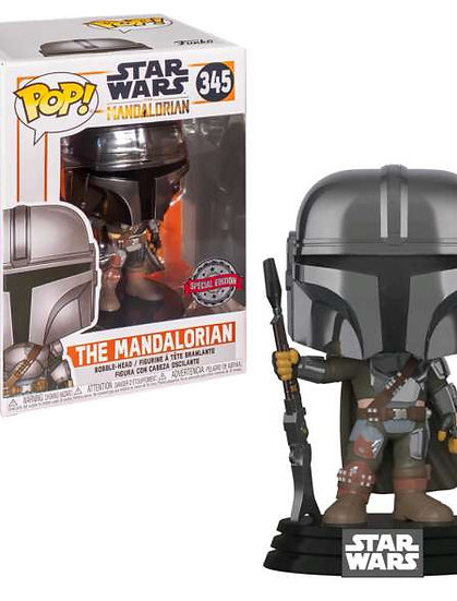 POP! Vinyl Star Wars: The Mandalorian Chrome US Exclusive 345
