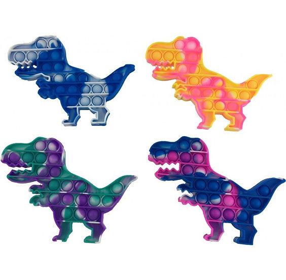Bubble POPIT FidgetTie Dye Dinosaur Sensory Toy