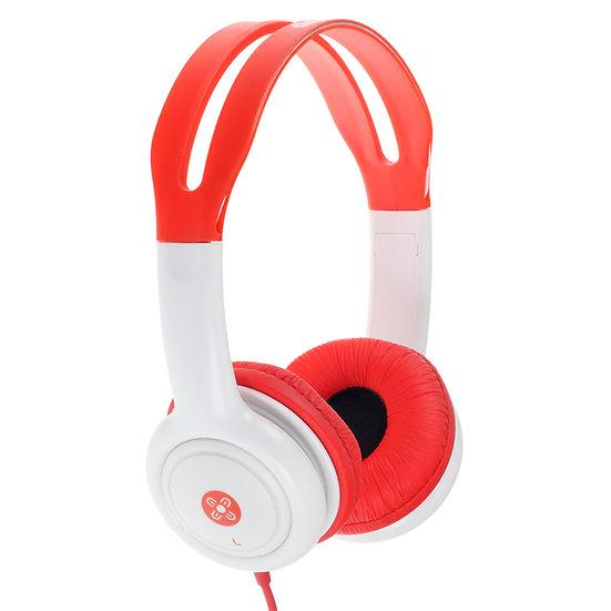 Moki Volume Limited Headphones for Kids - Red
