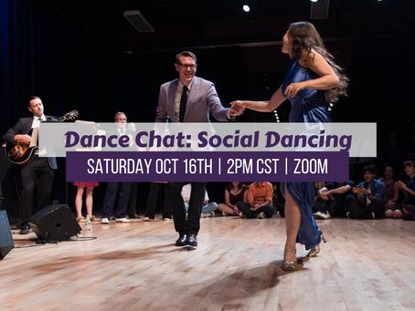 Dance Chat: Social Dancing on 10-16-21