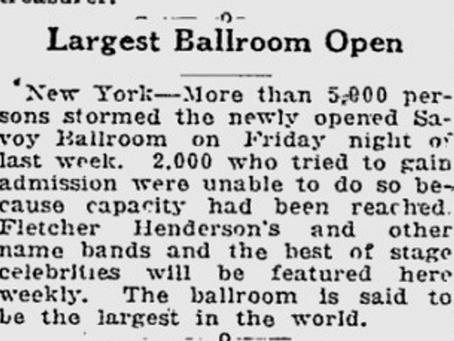That's Old News - Savoy Ballroom opens