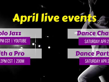 April 2021 Live Events