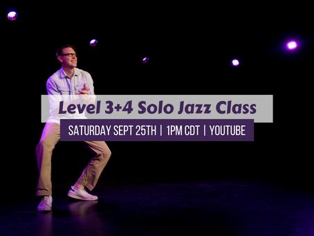 Level 3+4 Solo Jazz Saturday 9/25/21