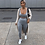 Thumbnail: RIBBED TOP AND LEGGINGS TWO PIECE IN GREY