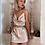 Thumbnail: CHAMPAGNE SATIN NIGHT SUMMER DRESS