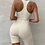 Thumbnail: SLEEVELESS RIBBED BACKLESS BODYCON PLAYSUIT