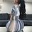 Thumbnail: LONG BODYCON V NECK DRESS IN PRINT