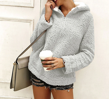 OVERSIZED FLUFFY HOODIE