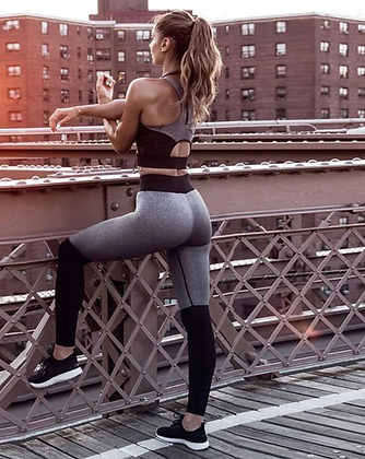 MARL GREY WORKOUT TWO PIECE