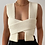 Thumbnail: SLEEVELESS KNITTED CROPPED SWEATER