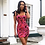 Thumbnail: FLORAL PRINT SLEEVELESS CUTE MINI DRESS WITH STRAP DETAILING