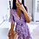 Thumbnail: LUXURY LILAC FLOWER WRAP AROUND SUMMER DRESS