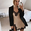 Thumbnail: LACE PATCHWORK SLIT SEXY DRESS