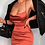 Thumbnail: PREMIUM SATIN LONG CHAMPAGNE DRESS
