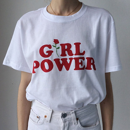GIRL POWER SLOGAN T SHIRT
