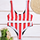 Thumbnail: RED AND BLACK REVERSIBLE STRIPE BIKINI
