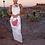 Thumbnail: LUXURY O NECK MAXI DRESS WITH WHITE DETAILING
