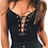 Thumbnail: BACKLESS DEEP V NECK BODYSUIT WITH LACE DETAILING