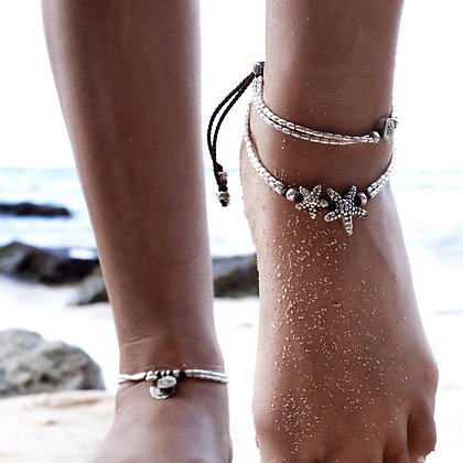 VINTAGE STARFISH BEADED ANKLET