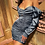 Thumbnail: LONG PUFF SLEEVE SLASH NECK PLEATED SATIN MINI DRESS