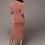 Thumbnail: PREMIUM HIGH WAIST HIGH NECK BODYCON DRESS IN PINK