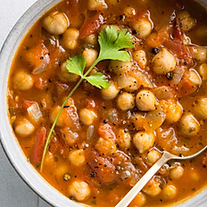Chana Masala  served with Spinach Dal and Rice