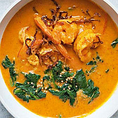 Prawn Malai Curry served with Rice