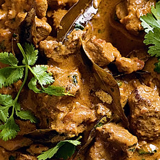 Lamb Curry served with Pilau Rice