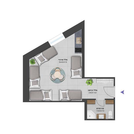 דירה 4 - לחץ להגדלה