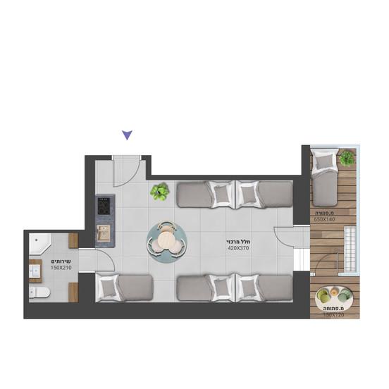 דירה 2 - לחץ להגדלה